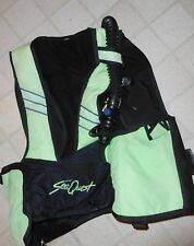 Seaquest Bcd M/L Scuba Dive Diving Diver Bc,tank holder vest,w dive alert,green
