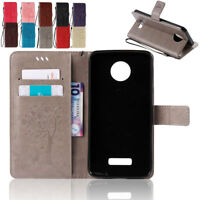 Protector Flip Leather Wallet Cards Stand Case For Motorola MOTO G4 G5 Plus Play