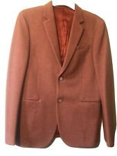 Mens Devil's Advocate Skinny Stretch Fit Pique Blazer Size 40 Used Pink