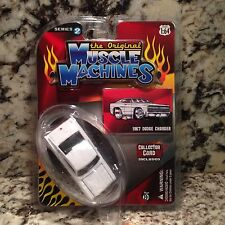 MUSCLE MACHINES 67 CHARGER DIE CAST CAR 1/64 1967 DODGE WHITE