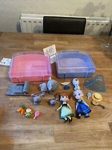 Disney Animator Doll Mini Playsets Anna/Elsa Frozen Animator figure set case