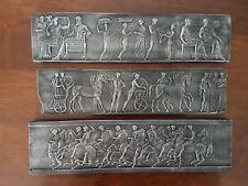 #3 Miniature freieze Antique Italian Roman plaster Pictorial Sculpture Plaque