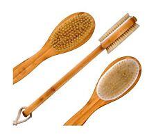 Bath Blossom Bamboo Bath Body Brush Extra Long Handle Exfoliating Back Scrubb.