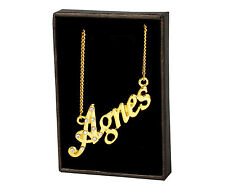 """Name Necklace """"AGNES"""" – 18K Gold Plated 