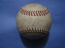 1946 New York YANKEES Team SIGNED Baseball(27 SIGNERS!)(Joe DiMaggio/Tiny Bonham