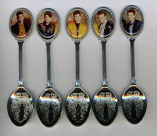 New Kids on the Block 5 Silver Plated Spoons Featuring New Kids on the Block