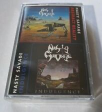 NASTY SAVAGE Indulgence + Abstract Reality CASSETTE TAPE SEALED NEW 1994 MB USA