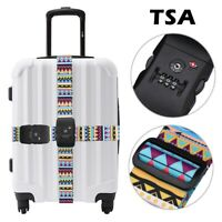 TSA lock Travel Strap Luggage belt 3 Digital Dial Combination Suitcase Bag Strap