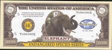 $1 Million Note - Fantasy Money - Endangered Species Series - ELEPHANT