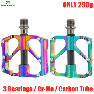 PROMEND Aluminum Carbon Ultralight Mtb Road Bike Pedal Bicycle Pedals 3 Bearings