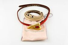 2 Leather Belts Original Pouch Estate Kieselstein-Cord 18k Gold Belt Buckle w/
