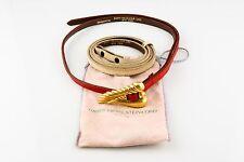 Kieselstein-Cord 18k Gold Belt Buckle w/ 2 Leather Belts Original Pouch Estate