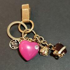 Juicy Couture Multi Heart Key Fob Key Chain Handbag Charm