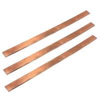 new 99.6% T2 Purple Copper Cu Flat Bar Plate 3mm x 15mm x 250mm Metal Strip S DA