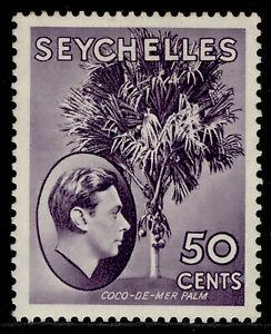 SEYCHELLES GVI SG144, 50c deep reddish violet , M MINT. Cat £20. CHALKY