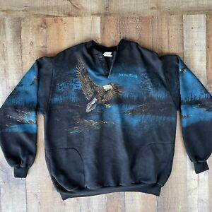 Vintage Art Unlimited Sportswear Eagles Alaska Sweatshirt Size XXXL