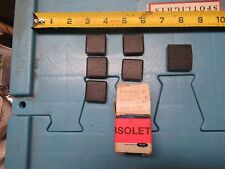 NOS 1972 FORD MUSTANG D2ZZ-65611B32-D SEAT BELT BOOT PLUGS BLACK QTY OF 5 + MORE