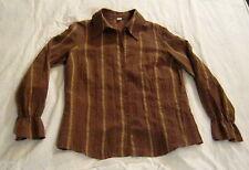 Damenhemd,Bluse,Gr. 40,Mischgewebe,mehrfarbig,braun mit hellbraunen Streifen