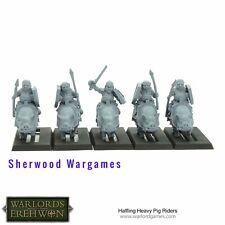28mm Halfling Heavy Pig Riders, Warlord Games, Warlords Of Erehwon, BNIB