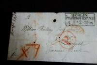 Germany 1853 Paid E.L. from Berlin to Liverpool Cover