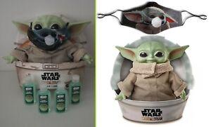 "NEW Star Wars Mandalorian THE CHILD 11"" plush Baby Yoda w/ FACE MASK & SANITIZER"