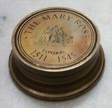 Nautical Brass Polish Finish Marine Sundial Compass Maritime - The Mary Rose