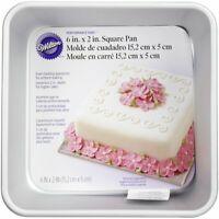"Wilton Performance Aluminum Square Cake and Brownie Pan, 6""x6""x2"" Deep"