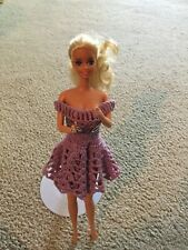 1991 Mattel American Beauty Queen Barbie Doll #3137 Redressed Silver Ring