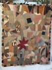 Antique+Hand+Stitched+Crazy+Quilt+Unusual+Backing+Possible+African+American