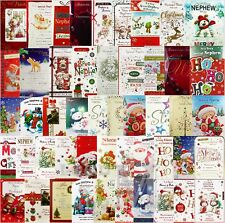 Niece / Nephew Christmas Card And Family / Partner Etc - Various Designs Avail