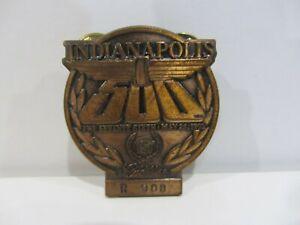 1992 INDIANAPOLIS 500 BRONZE BADGE AL UNSER JR. WIN CADILLAC INDY CAR RACING IMS