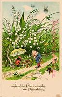 AK Künstlerkarte, Künstler Fritz Baumgarten, Glückwunsch zum Geburtstage, 24/05