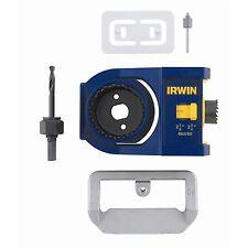 Irwin DOOR LOCK INSTALLATION KIT Bi-Metal Hole Saws, 3 Steps Process USA Brand