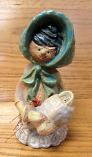 """Unique Metlox Poppytrail Poppet Handmade Girll """"Sally"""" With Baby By Helen Slater"""