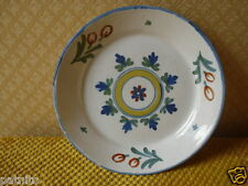 Ancienne Assiette en faience polychrome.  Antique french faience plate