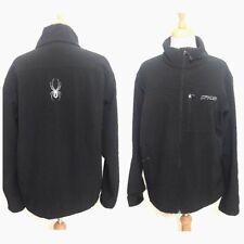 Spyder Men's Large Winter Fleece Lined Lightweight Coat Jacket Spell Out Flaws