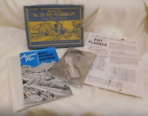 AMERICAN FLYER No.731 PIKE PLANNING KIT W/ORIGINAL BOX & CONTENTS