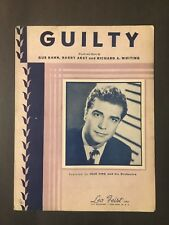 Guilty    1946 Sheet Music -  Jack Fina