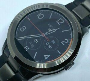 Fossil  DW2e FTW2117 Men Gun Metal Wireless Charging Smart Watch Hour Smartwatch