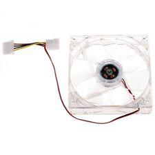 VENTILADOR COOLER TRANSPARENTE PARA PC 12V 8 cm LINQ CONECTOR 4 PINES