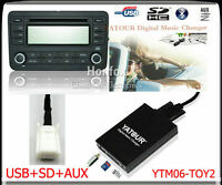 Yatour Digital CD Changer USB SD for Toyota Lexus Scion Small 6+6 plug 2003-2013