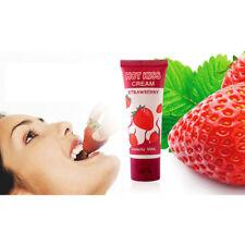 Hot Kiss Male 50ml Strawberry Cream Edible Lubricant New