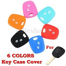 Silicone 2 Buttons Key Fob Case Cover For Peugeot 307 107 207 405 Citroen C3 C5