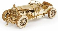 Rokr 3D Wooden Puzzle Car Model Kit Grand Prix Car Mechanica Model Building Kits