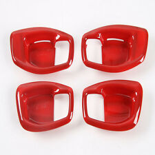 For Jeep Compass Side Door Inner Handle Bowls Cover Trim ABS red 2017