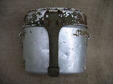 WWII German Battle Damaged Aluminium Mess-tin.