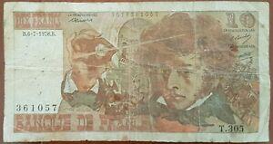 Billet 10 francs Hector BERLIOZ 6 - 7 - 1978 FRANCE T.305