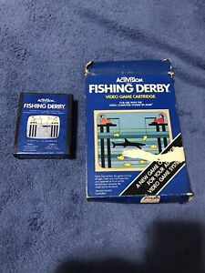 Atari 2600 Fishing Derby Box and Cartridge Tested