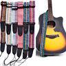 HK- Ethnic Style Adjustable Widen Electric Folk Guitar Bass Shoulder Strap Belt