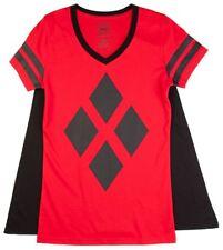 Harley Quinn Cape T-Shirt Batman Suicide Squad DC Comics - Juniors S - New w/Tag